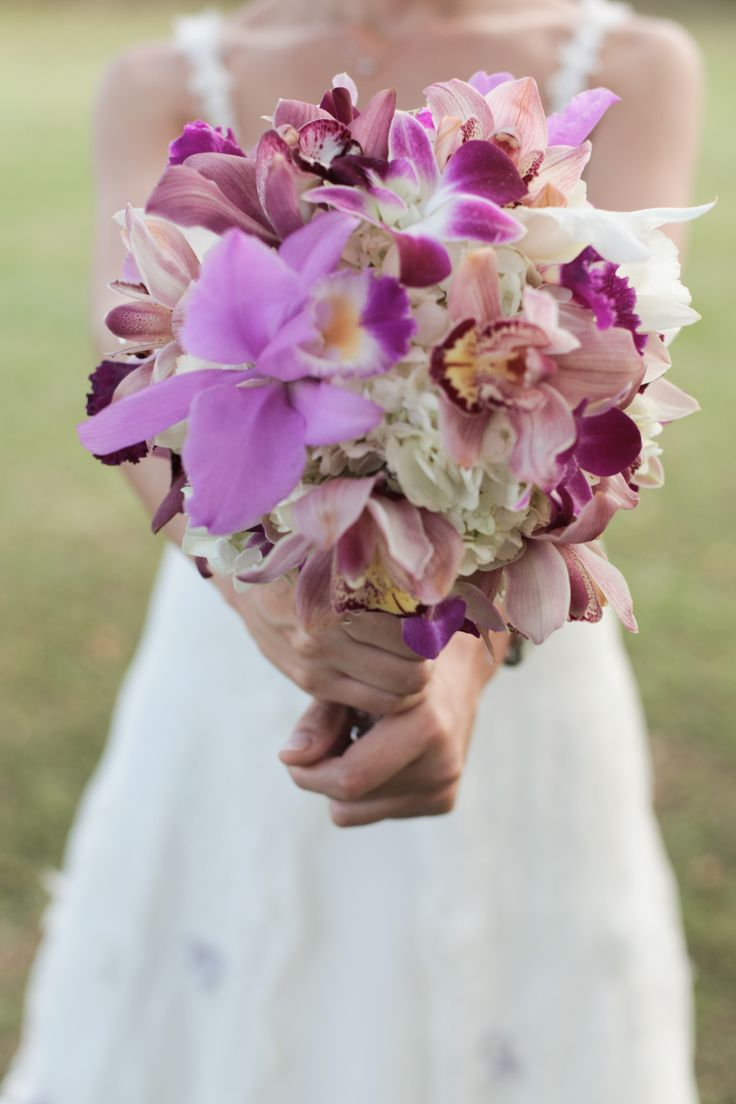 Flores, lila y blanco
