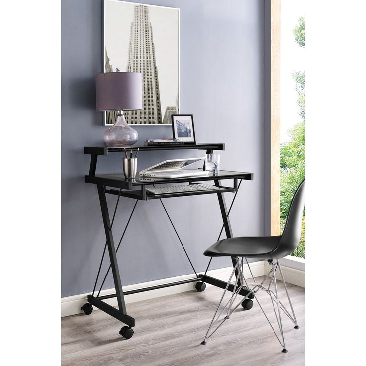 Home Source Industries Computer Cart - Black - 3352