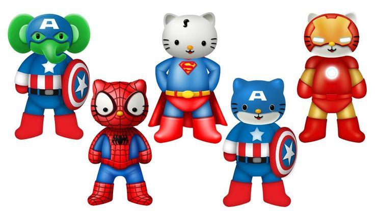 Superheroes Finger Family Song Series | Cake Pop Finger Family Songs Collection