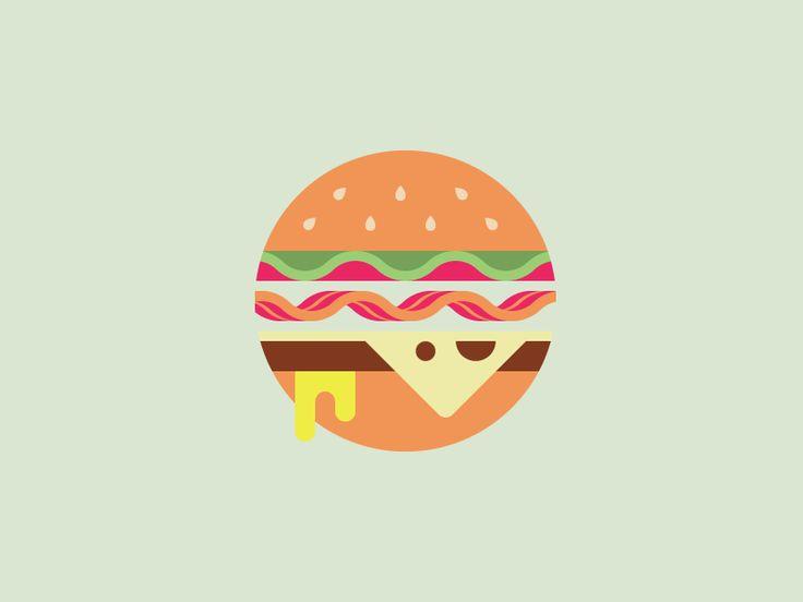 Tried to cram this burger in a circle.   I love Burgers. Burgers > Steak.