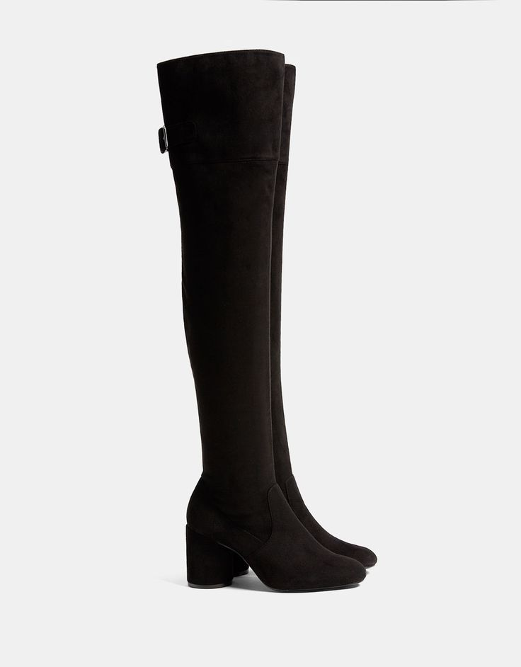 Mid heel over-the-knee boots - SHOES - Bershka Romania