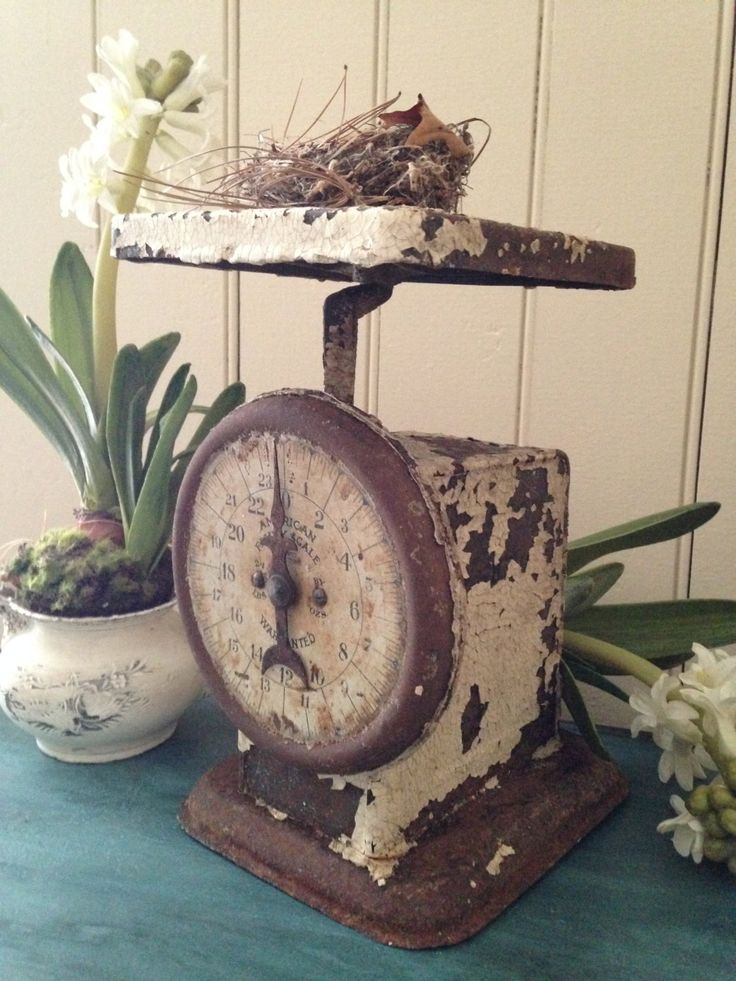 100 best images about love vintage scales on pinterest for Rustic kitchen scale