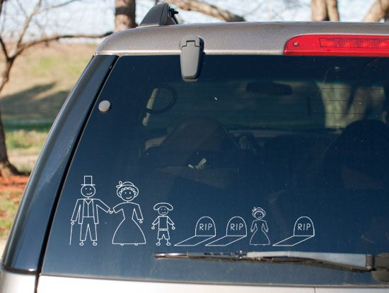 Best Funny Car Decales Images On Pinterest Funny Cars - Family car sticker decalsdc comics licensed family car stickers and window decals family