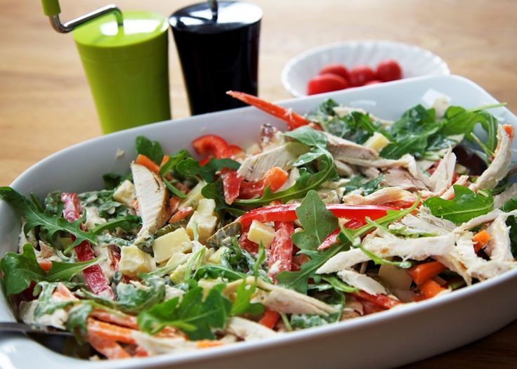 #salad #chicken #tangy #summereating
