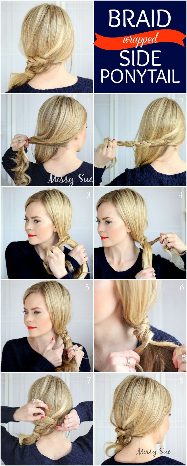 DIY | Braid 12-Braid Wrapped Side Ponytail Tutorial
