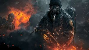 Preview wallpaper tom clancy, the division, shooter, soldier, weapons 1920x1080