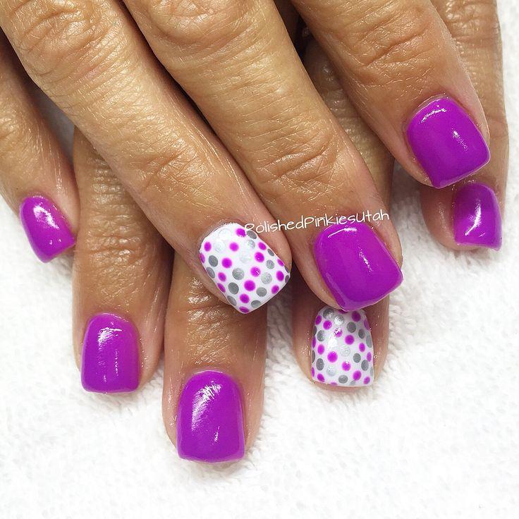 purple shellac nails ideas