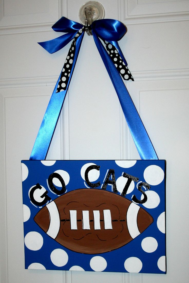 High School Football Hand Painted Canvas Wall Art Painting School Sports Team Cheerleader. $29.99, via Etsy.