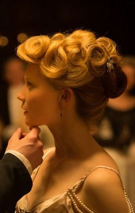 crimson peak - Mia Wasikowska evening dress, beautiful hair & make up. Costume Designer Kate Hawley