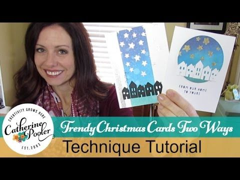 A Very Trendy Christmas Card - Two Ways! with Catherine Pooler  http://www.catherinepooler.com/?p=29500  #christmascardmaking #ellenhutson
