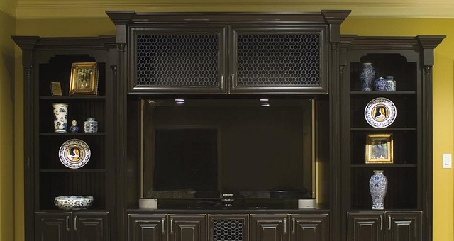 KITH Clairmont Cherry Ebony Distressed Finish by Below Wholesale Cabinets, via Flickr