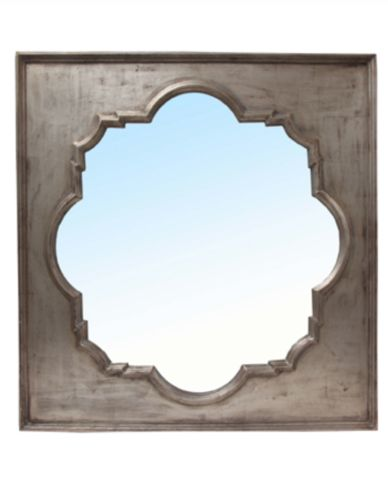 Port Mirror with Old Silver Finish - Allissias Attic & Vintage French Style
