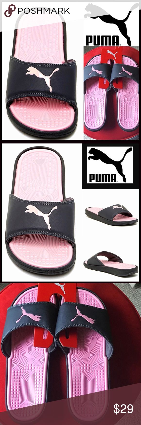 ⭐️⭐️ PUMA SANDALS Flats Slides Flip Flops NEW WITH TAGS ***See sizing note below PUMA SANDALS Flats Slides Flip Flops * Wide single vamp strap w/logo detail * Rubber 'jelly' flexible ballet flat soles * Water resistant * Open toe and slip on style. * True to size; ****Tagged 9, whole sizes only in this style, will fit approx sizes 8.5 & 9 Fabric: PU Upper & EVA Sole Color: Pastel Rose-Orange & charcoal Item: flatform No Trades ✅ Offers Considered*✅ *Please use the blue 'offer' button to…