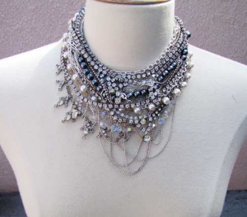 DIY Chunky Necklace SUPER CUTE lots of cool diys on this website