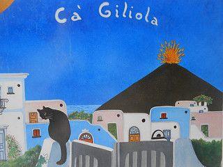 Isola di Stromboli - tutte le case dell'isola hanno una ceramica dipinta con il nome della casa, del proprietario, un proverbio, una parola, un disegno...| da Lorenzo Sturiale