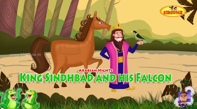 King Sindbad and his Falcon || Arabian Nights Stories || Animated Moral Stories in English