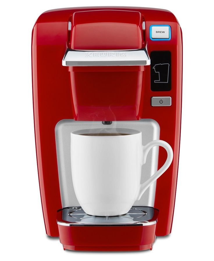 Keurig K15 Single Serve Compact K Cup Pod Coffee Maker, Chili Red