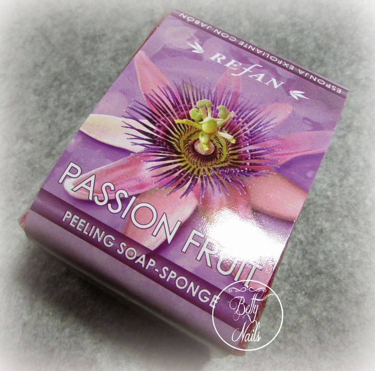 Betty Nails: REFAN Passion Fruit Peeling Soap Sponge [macros]