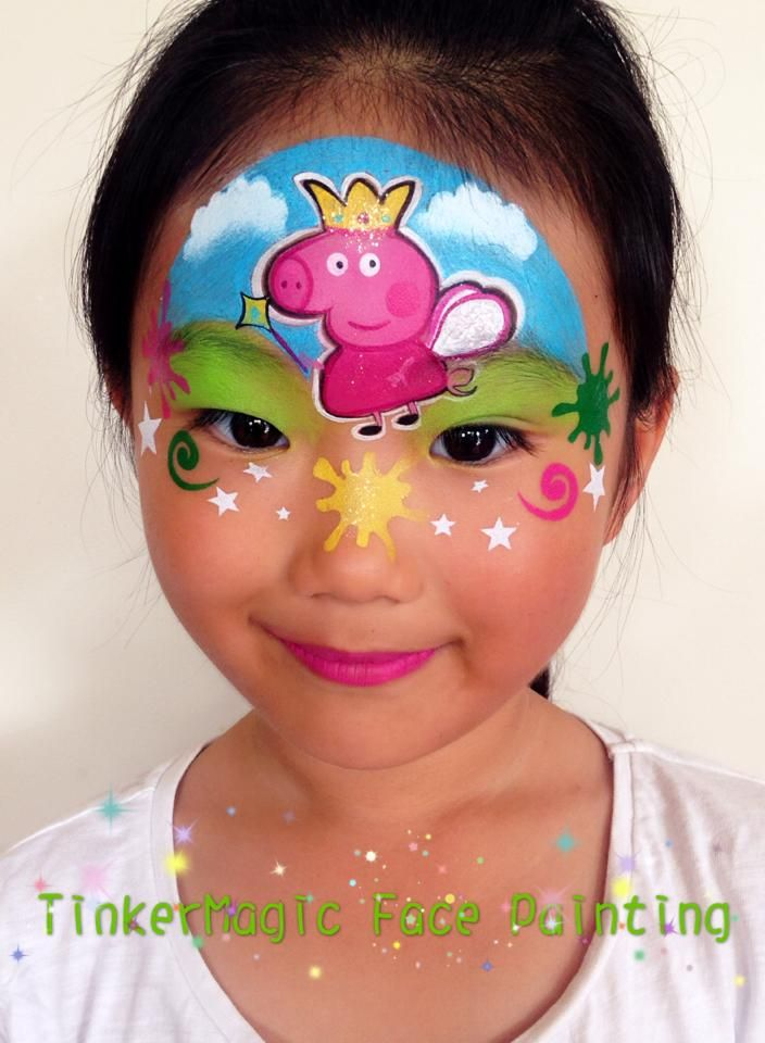 Peppa Pig Face Paint Face Painting Pig Face Paint Face Painting