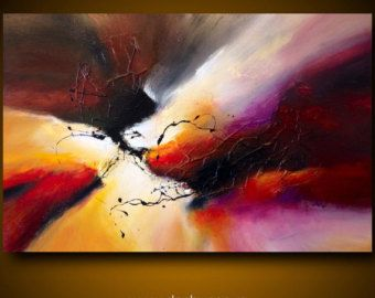 Large abstract painting by Dan Bunea: MAGELLAN by danbunea on Etsy
