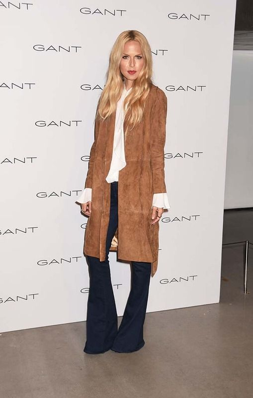 RZ loves the 1970's and draws much of her inspiration from it. Here she shows that nothing is more glamorous or elegant than a great suede coat, jeans and cream blouse. Put this on any woman of any age and she will look amazing.