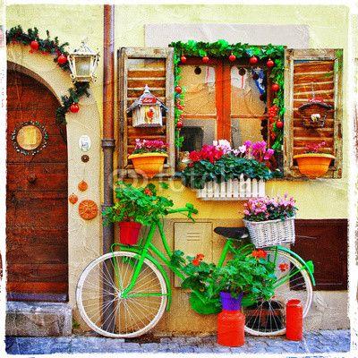 Fototapeta na ścianę - PRETTY STREETS OF SMALL ITALIAN VILLAGES | Photograph wallpaper - PRETTY STREETS OF SMALL ITALIAN VILLAGES | 96PLN #fototapeta #dekoracja_ściany #włochy #włoskie_uliczki #home_decor #interior_decor #photograph_wallpaper #wallpaper #italian_streets #italian #pretty