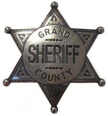Corbeto's Boots | 59-113NQ | Estrella Grand County Sheriff plateada