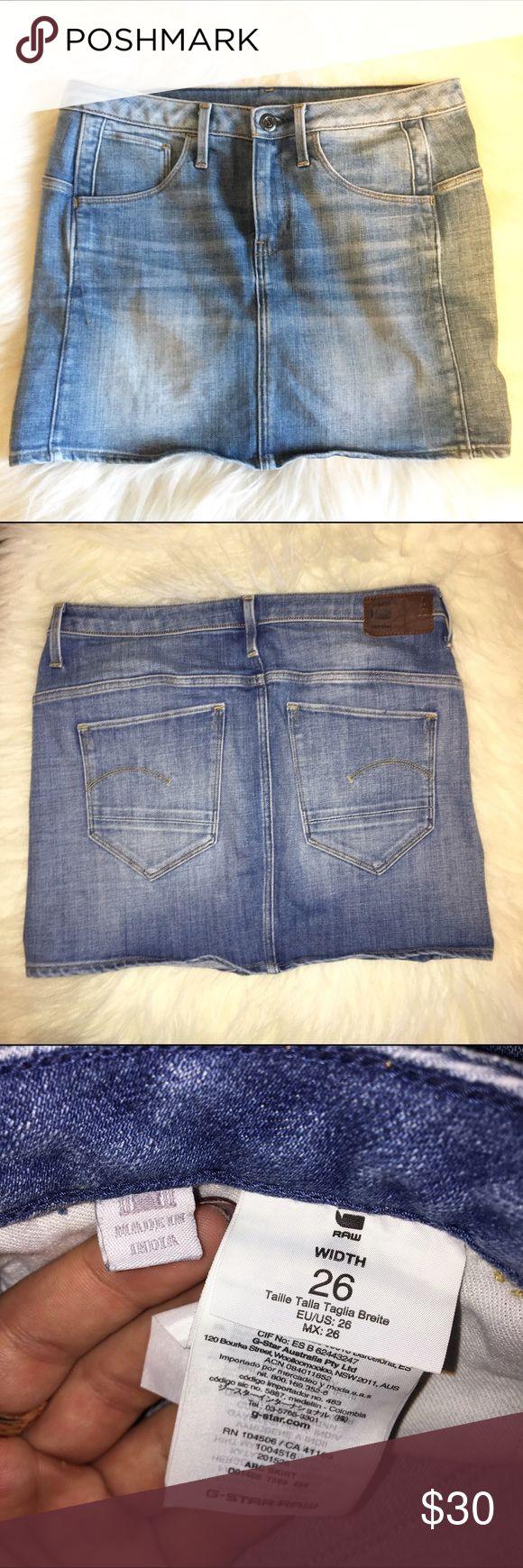 G Star Raw Jean Skirt Good condition G Star Raw Jean skirt G-Star Raw Skirts Mini