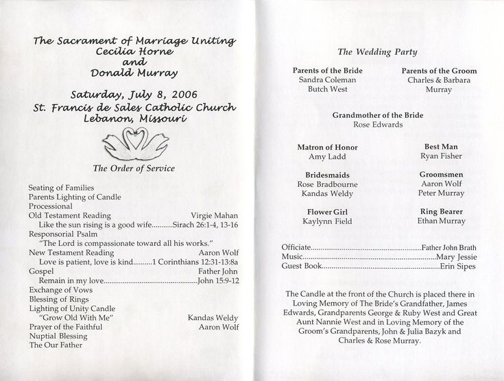 Wedding Program Wording Examples Jcmanagementco - Free sample wedding programs templates