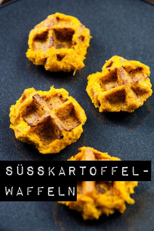 Diese Süßkartoffel-Waffeln sind schnell gemacht, machen aber ganz viel her! Zusammen mit einer Chili-Mayo das perfekte Fingerfood.