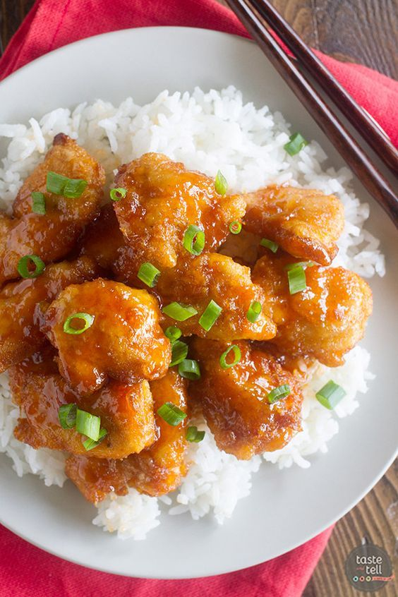 Sweet and Sour Chicken Recipe. Chicken is coated in a sweet and sticky sauce and baked to perfection.
