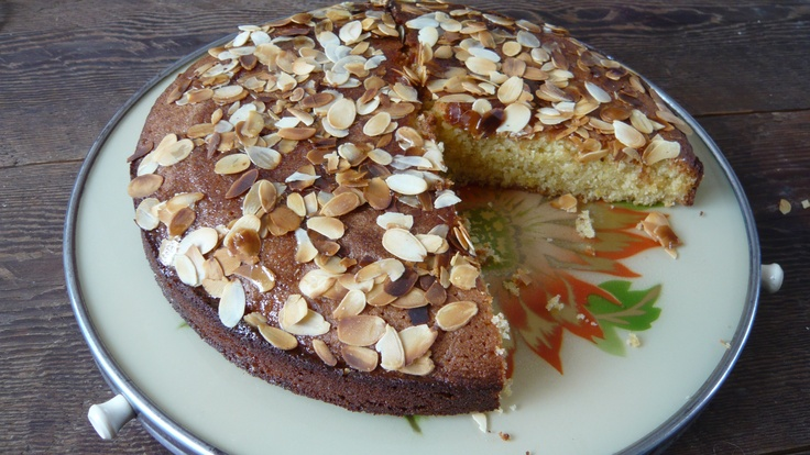 With lemon and almonds