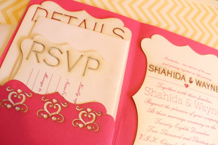 Lasercut Wedding Invite