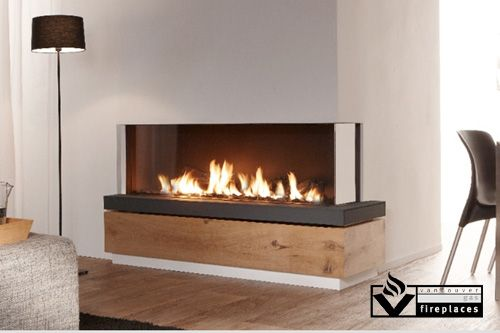 The Bidore 140 is a stunning, frameless, linear right or left corner fireplace. The trimless design of glass meeting glass allows a cleaner view of this modern linear corner gas fireplace.  Simplicity in construction simplifies installation and maintenance. Simplicity in use guarantees a cozy and warm atmosphere in the home with literally just one push of a button. Finally, simplicity in design results in designs that do full justice to the unique beauty of the fire.