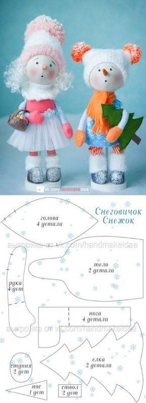 снеговички / Мир игрушки / Тильда. Мастер классы, выкройки.
