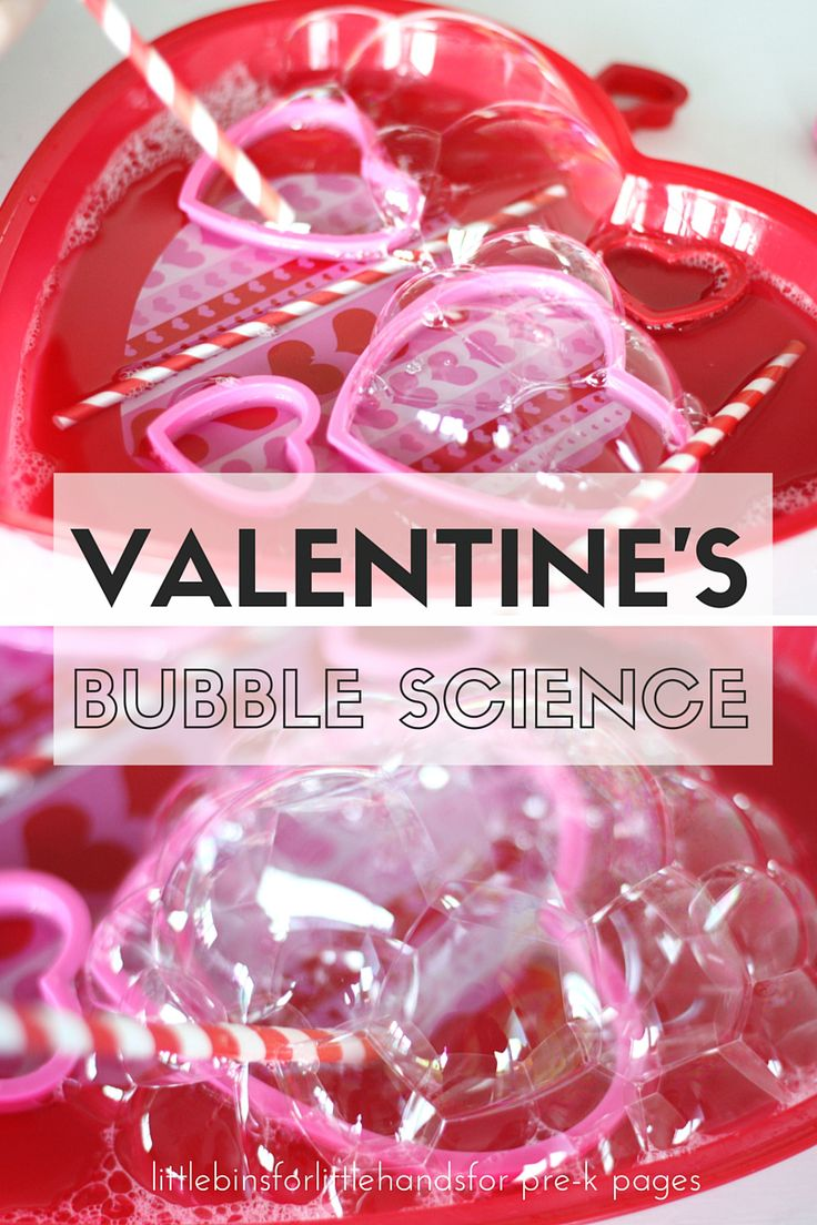 Valentines Day Bubble Science Activity for Preschool and Kinder