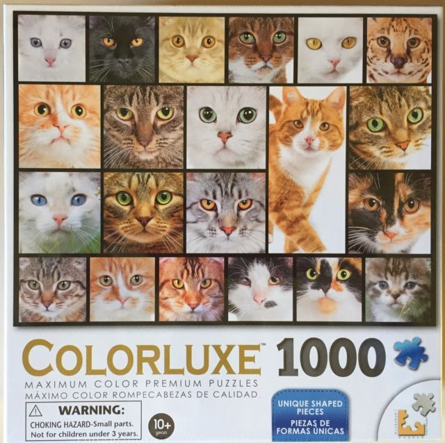 NEW!  Colorluxe - Cats - Los Gatos - 1000 Piece Premium Jigsaw Puzzle