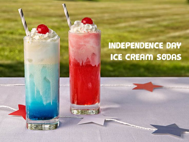 Red, White, and Blue Ice Cream Sodas | American Lifestyle Magazine