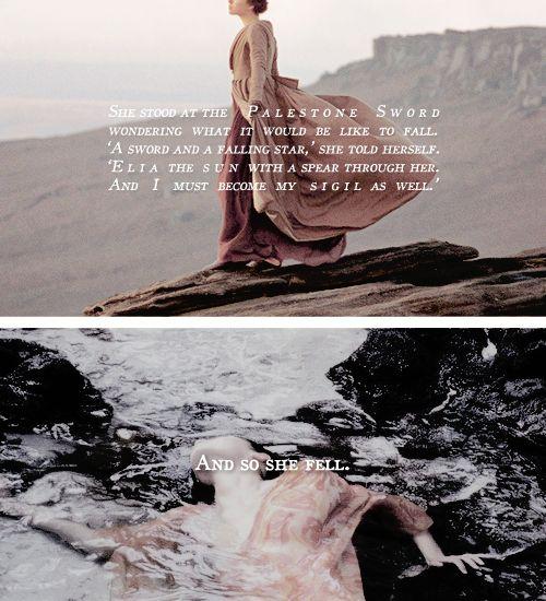 Ashara Dayne: She threw herself into the sea. #got #asoiaf