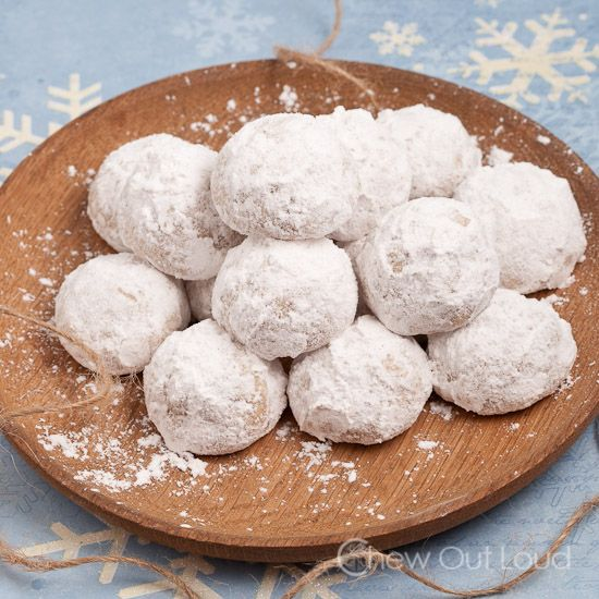 Snowball Cookies (Russian Tea Cakes) -•1 cup salted butter, room temp •2 cups powdered sugar, divided •1 TB vanilla extract •2 cups all purpose flour •1 cup pecans, toasted, cooled, and finely ground (stop as soon as it looks ground; avoid it becoming pasty) •½ tsp cinnamon