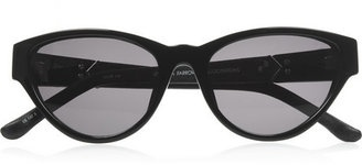 The Row Cat eye-frame acetate and leather sunglasses