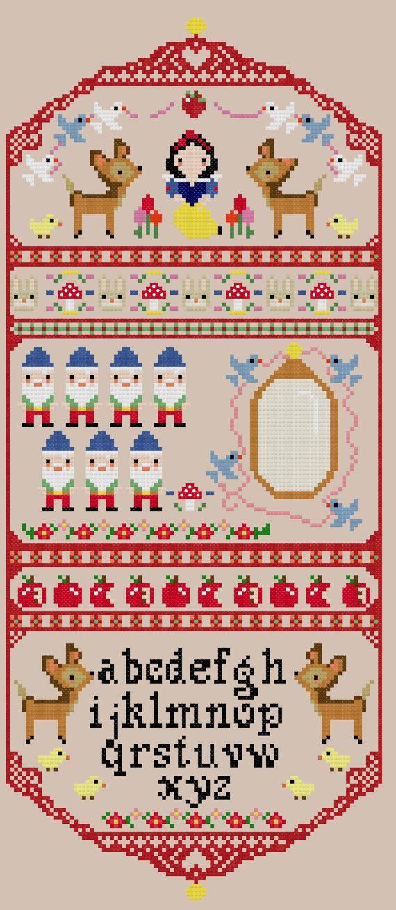 HALF OFF PATTERNS Snow White Cross Stitch Pattern by PlatoSquirrel