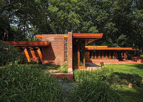Melvyn Maxwell and Sara Stein Smith House/ Myhaven. 1949-50. Bloomfield Hills, Michigan. Frank Lloyd Wright. Usonian Style. via Jared Neisler