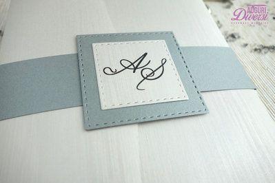 Auguri Diversi – Partecipazione di matrimonio in elegante carta metallizzata EFFETTO SETA. Colore Argento www.facebook.com/AuguriDiversi