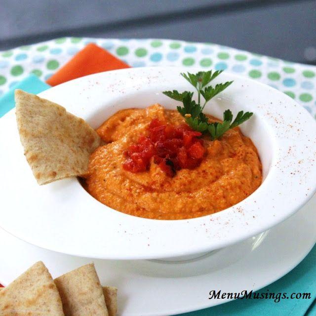 Menu Musings of a Modern American Mom: Roasted Red Pepper Hummus