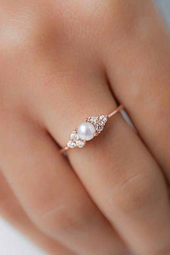 Pearl Engagement Rings For A Beautiful Romantic Look Pearl