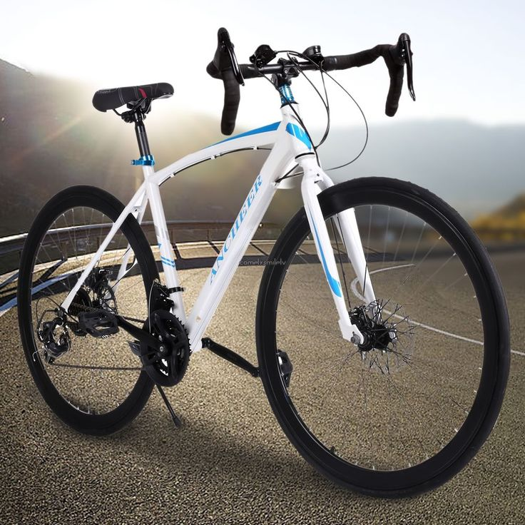 Durable Carbon Steel Road Bike Commuter Cycling 21 Speed 700c Racing Bike White #Unbranded