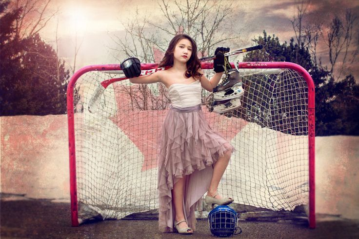 My Tomboy daughter's hockey photoshoot. You can still be pretty while playing with the boys.