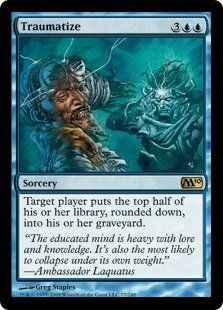 Magic: the Gathering - Traumatize - Magic 2010 by Wizards of the Coast. $3.34. From the Magic 2010 (M10) set.. A single individual card from the Magic: the Gathering (MTG) trading and collectible card game (TCG/CCG).. This is of Rare rarity.. Magic: the Gathering is a collectible card game created by Richard Garfield. In Magic, you play the role of a planeswalker who fights other planeswalkers for glory, knowledge, and conquest. Your deck of cards represents all the weapons...