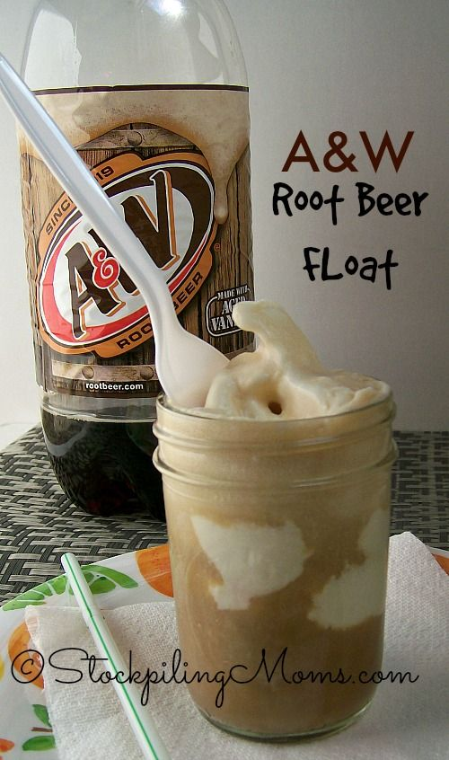 Perfect summer time treat - A&W Root Beer Float! #dessert #rootbeerfloat